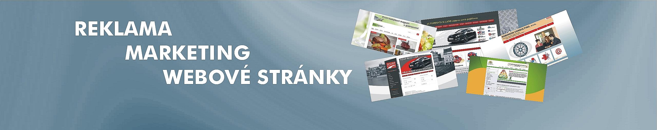 Reklama, marketing, webové stránky